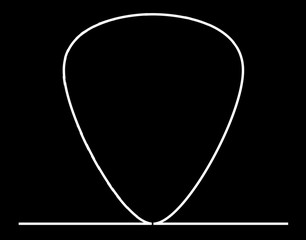 Plectrum Continuous White Line Drawing