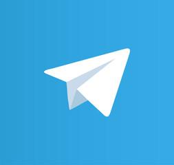 telegram logo. telegram button. telegram vector