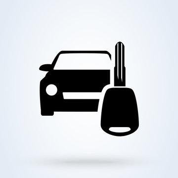 key car rent. vector Simple modern icon design illustration.