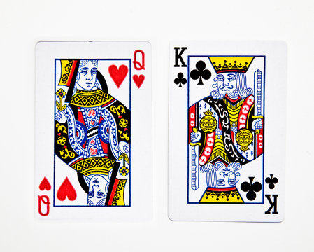 Queen of heart and King of Club cards