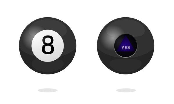 Magic ball icon set. Clipart image isolated on white background