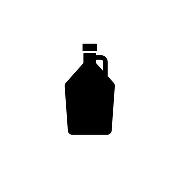 Beer growler silhouette icon. Clipart image isolated on white background