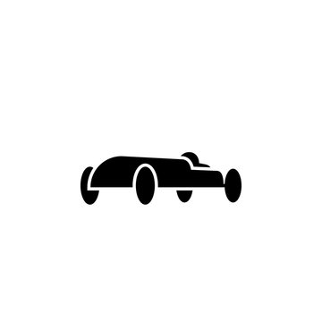 Soap box car silhouette icon. Clipart image isolated on white background