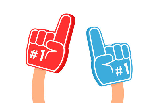 Fan foam finger icon. Clipart image isolated on white background