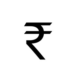 Rupee symbol icon. Clipart image isolated on white background