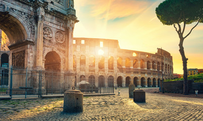 Self adhesive Wall Murals Old building Road to Colosseum