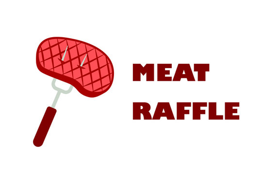 Meat raffle design. Clipart image isolated on white background