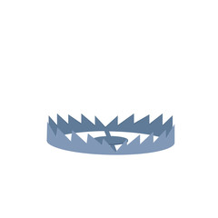 Bear trap icon. Clipart image isolated on white background