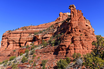 Red rock desert landscape of Sedona, Arizona a spiritual location for retreats and many spa