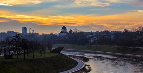 Vilnius at sunset