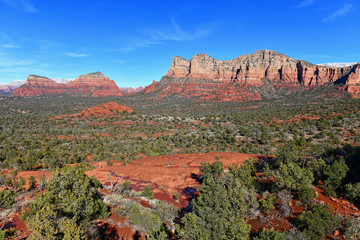 Wall Murals Dark grey Red rock desert landscape of Sedona, Arizona a spiritual location for retreats and many spa