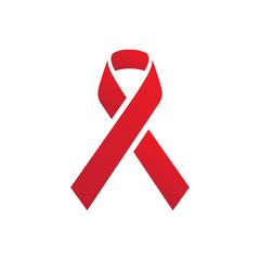 Minimal aids ribbon icon design