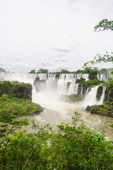 Waterfalls and jungle - a view from the Lower Circuit at the Iguazu National Park (Puerto Iguazu, Argentina)