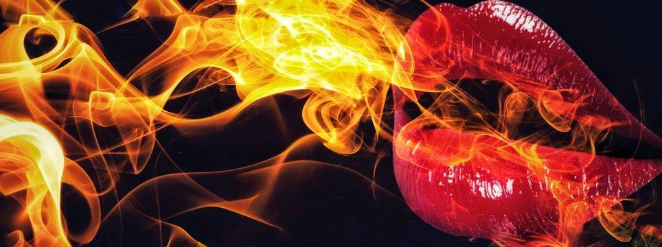 口から火を噴く