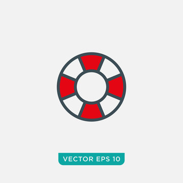 Life Buoy Icon Design, Float Icon Vector EPS10