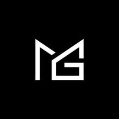 Fototapeta Letter Logo mG Design Monogram Icon Vector Template obraz