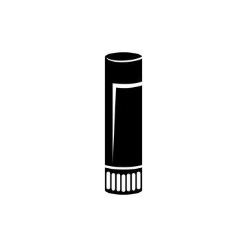 Lipstick Tube, Lip Balm, Cosmetic Flat Vector Icon
