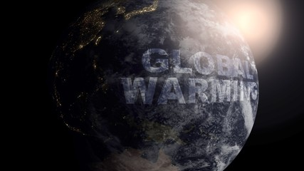 Global Warming concept with a realistic Earth