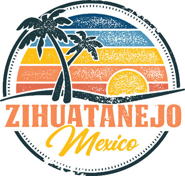 Vintage Zihuatanejo Mexico Tropical Vacation Destination