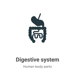 Digestive system glyph icon vector on white background. Flat vector digestive system icon symbol sign from modern human body parts collection for mobile concept and web apps design.