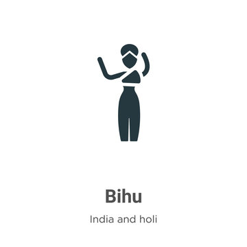 Bihu glyph icon vector on white background. Flat vector bihu icon symbol sign from modern india collection for mobile concept and web apps design.