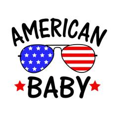 American Baby USA flag Sunglasses clipart