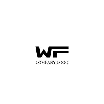 Initial WF letter logo modern design