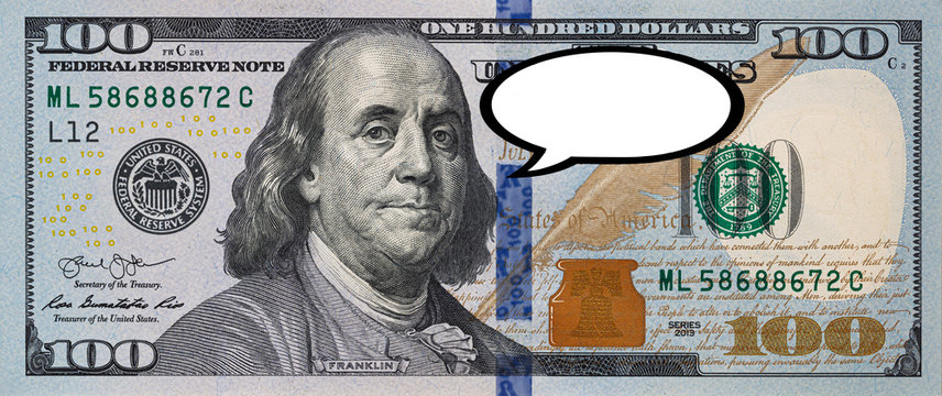 100 dollar banknote iwith say clipart