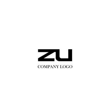 Initial ZU letter logo modern design
