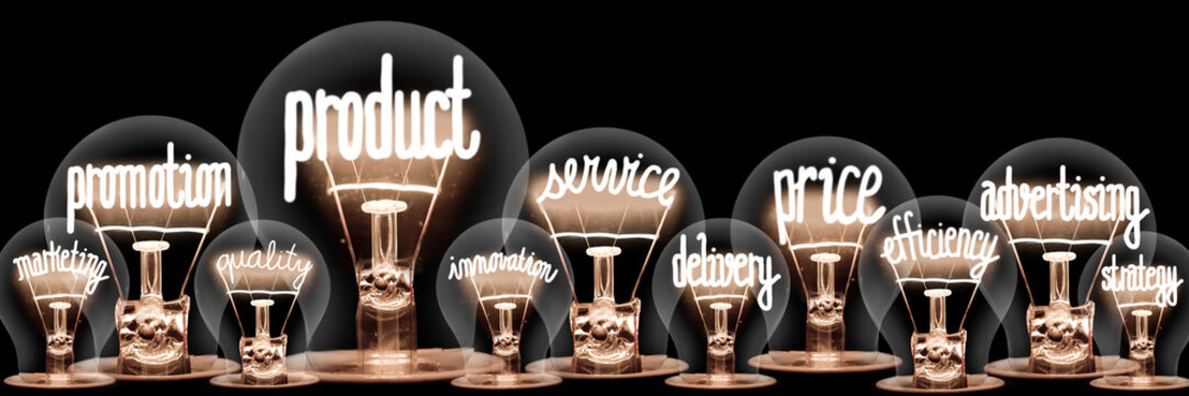 Light Bulbs with Product Concept