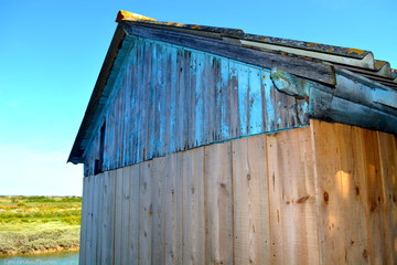 cabane de pecheur bleue Wall mural