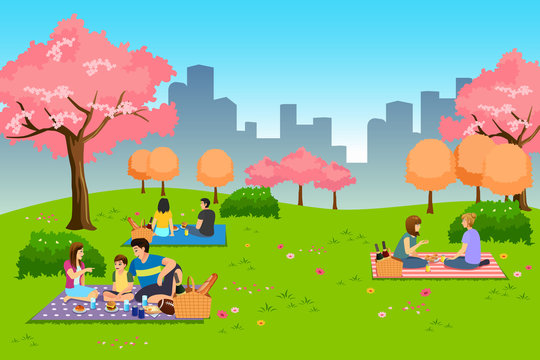 People Having Outdoor Picnic at the Park During Spring