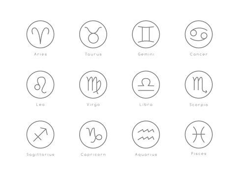 Vector illustration of zodiac sign.