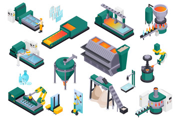 Glass Production Isometric Collection