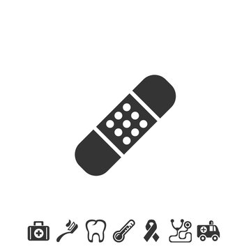 band aid icon vector illustration for website and graphic design