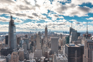 New York, United States »; January 5, 2020: Top of the Rock in New York, beautiful view of the Empire State and its surroundings