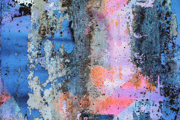 Closeup of colorful urban wall texture. Modern pattern for wallpaper design. Creative urban city...