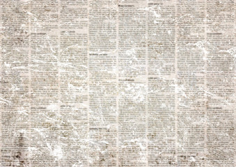 Old vintage grunge newspaper paper texture background