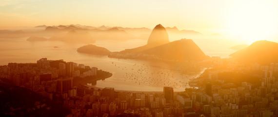 Fotomurales - Aerial panorama of Rio de Janeiro city, Brazil
