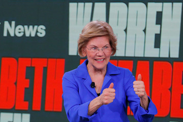 Democratic 2020 U.S. presidential candidate Warren speaks at the Brown and Black Democratic Presidential Forum in Des Moines
