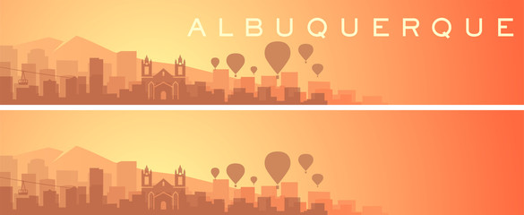 Albuquerque Beautiful Skyline Scenery Banner