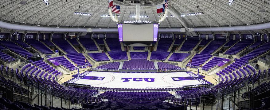 SchollMaier Arena on the campus of Texas Christian University, TCU.