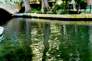 Bridge Sidewalks Reflection River Walk San Antonio Texas