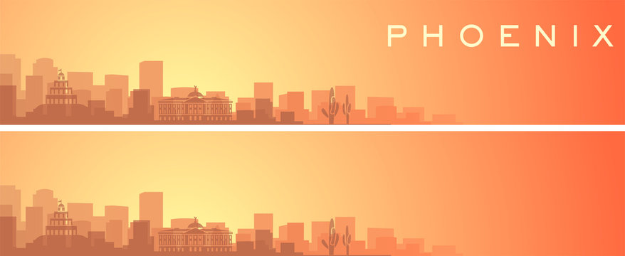 Phoenix Beautiful Skyline Scenery Banner