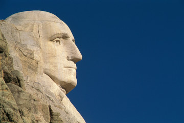 Profile of George Washington from Mount Rushmore Fotomurales