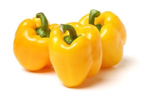 fresh bell pepper (capsicum) on white background