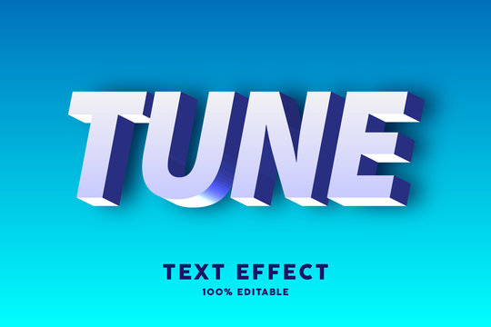 3d text white and blue text effect, editable text