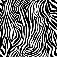 Vector animal zebra print. Seamless Tiger pattern.