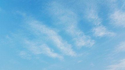 Clear blue sky. The clear blue sky with clouds. A natural background for images royalty free stock photo.