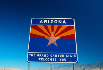 Wall Mural - Welcome to Arizona Sign